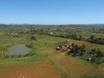The view of Valle Vinales over Raul's farm from the top of a stellar route called Mas Tarde.